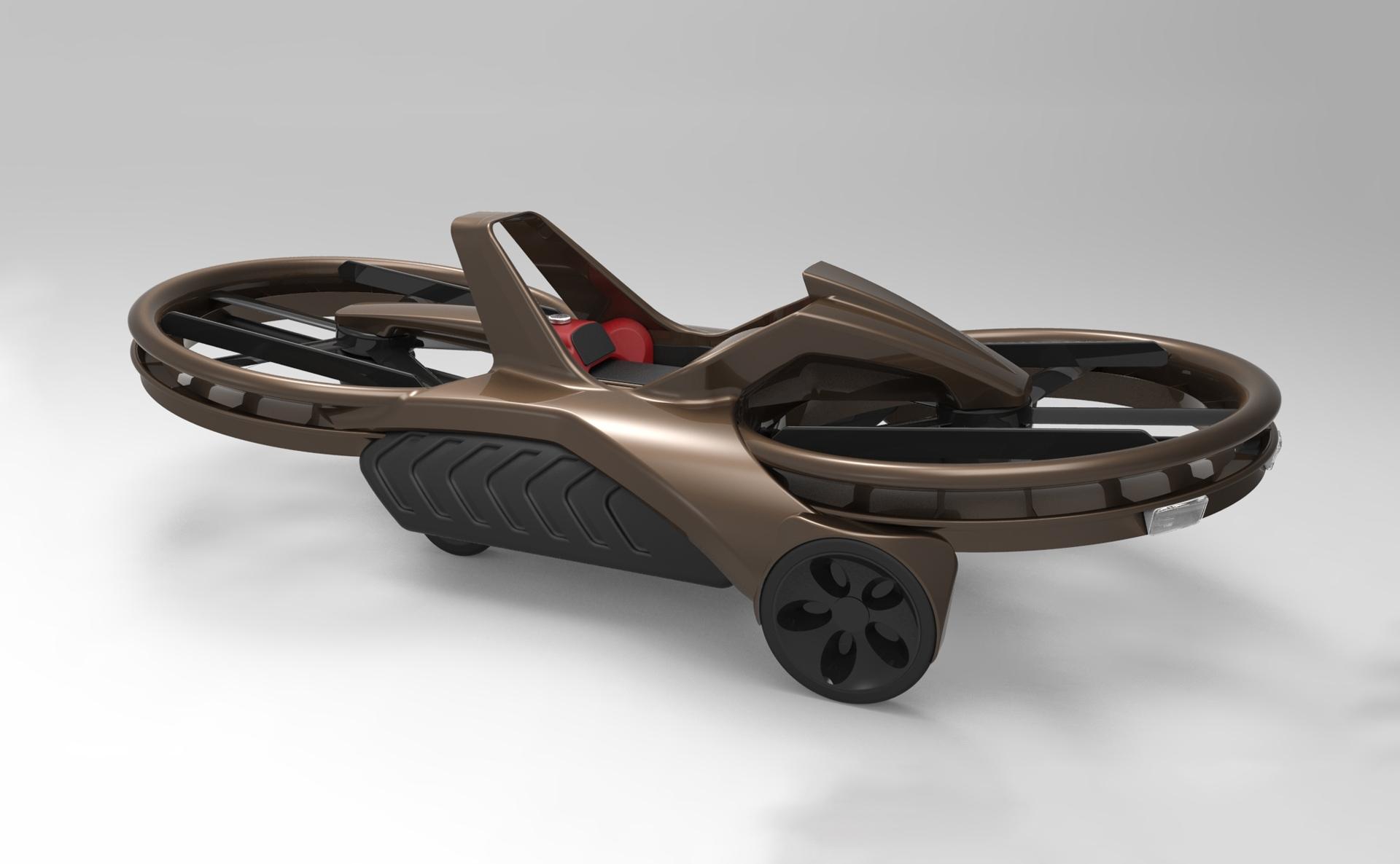 Aero-X : le premier HoverBike (moto volante) prévu pour 2017