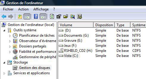 partitions du disque dur windows 7