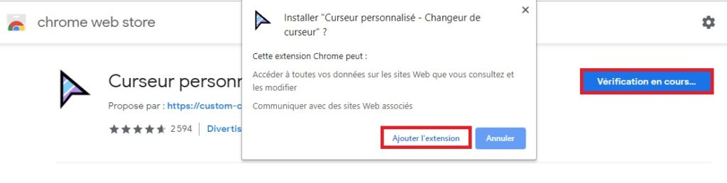 Ajouter l'extension Chrome