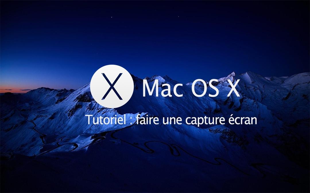 Faire une capture écran sous Mac OS X