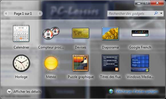 Ajouter des gadgets Windows