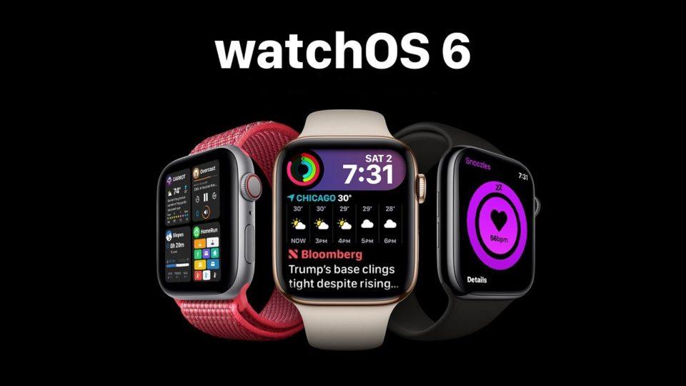 Les nouveautés WatchOS 6